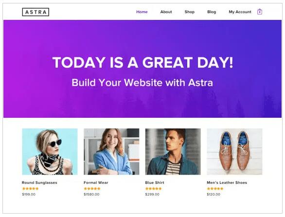 tema astra crea tu web