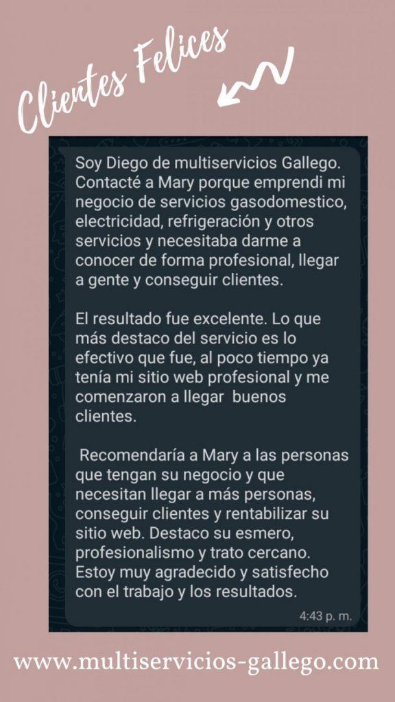 Testimonio clientes multiservicios gallego